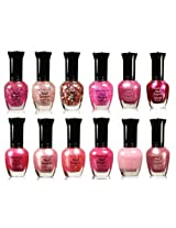 Kleancolor Collection Awesome Pink Colors Assorted Nail Polish 12pc Set