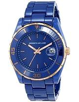 Kenneth Jay Lane Women's KJLANE-3019 3000 Series Stainless Steel and Ceramic Blue Watch