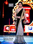 New Black Designer Partywear Bollywood Replica Velvet & Net Saree Sari Shriya Saran