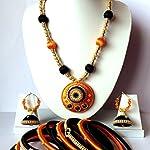 Silk thread Jewellery Set/ Necklace Set with Bangles & Jhumki Earrings