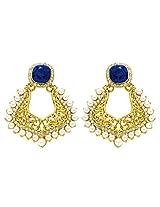Peora Mughal Earrings for Women (Blue)