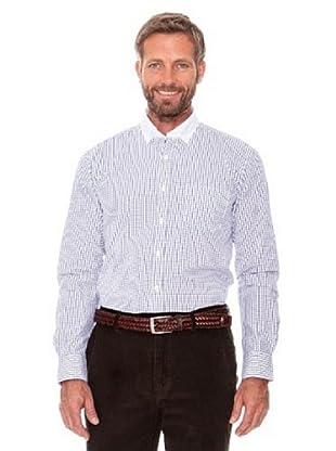 Cortefiel Camisa Cuadros (Blanco)