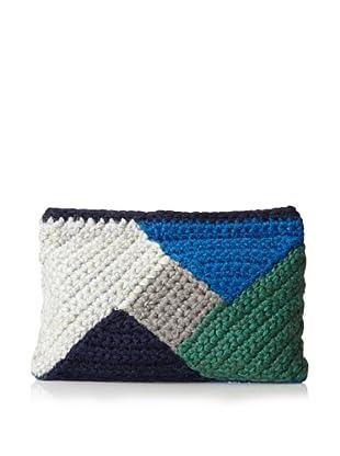 Lorenza Gandaglia Women's Vera Colorblock Clutch (Blue)