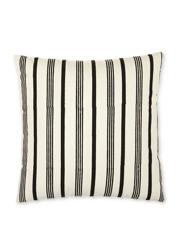 Kerry Cassill Pillow, Black/White Stripe, 20