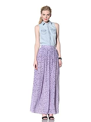 House of Holland Women's Piercing Maxi Skirt (Lilac)