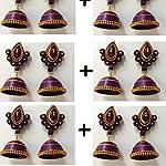 Paper Jwel_Purple Yellow Jhumka