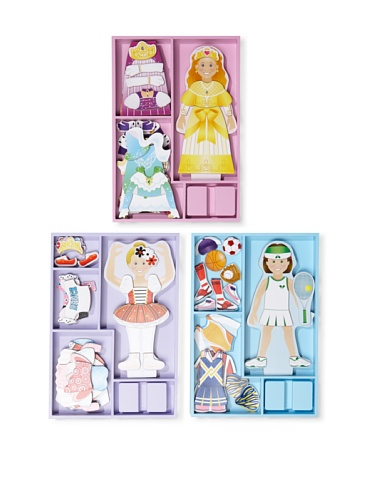 Melissa & Doug Girl's Magnetic Dress Up Set
