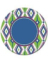 Creative Converting 8 Count Paper Dinner Plates, Diamond Ikat