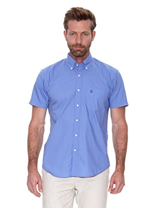 Cortefiel Camisa Liso Chambray (Azul)