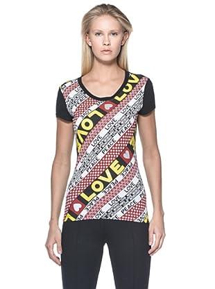 Love Moschino Camiseta Peace & Love (Multicolor)