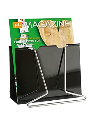 Present Time Giant Clip Magazine Rack, Black