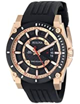 Bulova Precisionist Analog Black Dial Men's Watch - 98B152