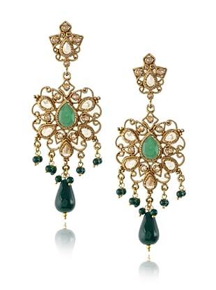 Rosena Sammi Green Crystal Cluster Drop Earrings