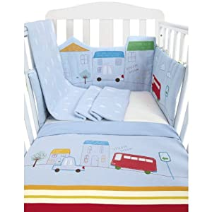 Mothercare Happy Town Bed in Bag (Blue)