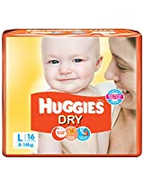 Huggies Dry Diapers Large Size (16 Count)
