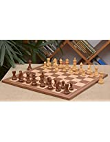 Chessbazaar Combo Of Tournament Series Staunton Chess Pieces & Walnut Maple Board