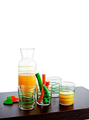 Luminarc Set 5 Piezas Refresco Modelo Gummy Verde