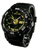 Q&Q Attractive Analog-Digital Black Dial Mens Watch-DE10-502