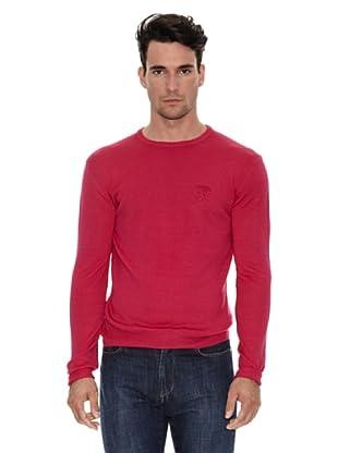 Versace Jersey Cuello Redondo Logo (Rojo)