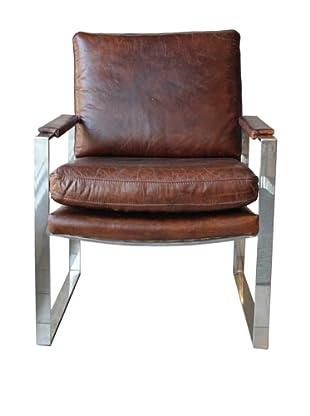 Melange Home Milano Chair, Vintage Cigar