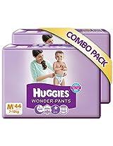 Huggies Wonder Pants M-44 (7 To 12 Kg) Pack Of 2