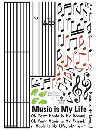 Ambiance Live Wandtattoo Music is my Life mehrfarbig