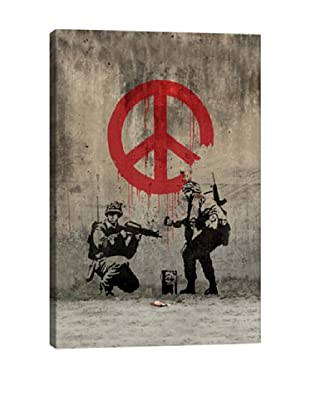 Banksy Soldiers Painting Peace By BanksyGiclée On Canvas