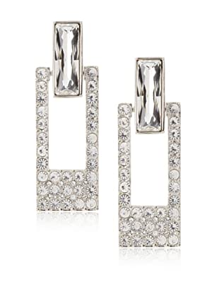 Judith Leiber Crystal Open Rectangle Earrings