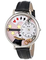 Whimsical Watches Unisex U0420006 Magic Black Padded Leather Watch