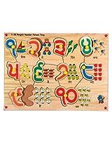 Skillofun Wooden Punjabi Number Picture Tray (1-10)
