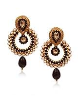 11-Girls Beautiful Style Diva BlackDesigner Earring