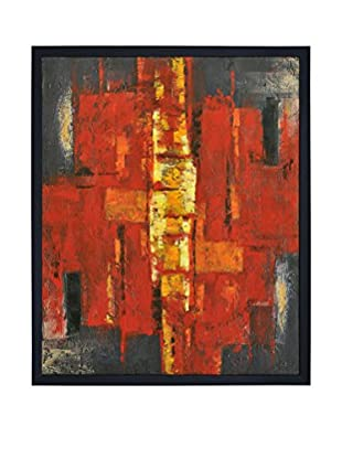 Surya Orange and Yellow Abstract Wall Decor, Multi, 50