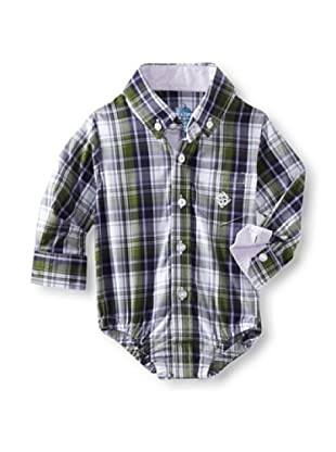 Andy & Evan Baby Boys Shirtzie (Green Plaid)