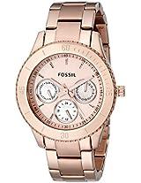 Fossil Designer Analog Gold Dial Women's Watch - ES2859