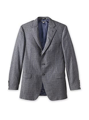 Nikky Men's Check Plaid Jacket (Grey/Navy Check)