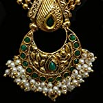 Antic Gold Plated Studded Necklace & Earring Jewellery Set