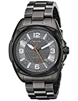 Bulova Precisionist Analog Grey Dial Men's Watch - 98B225