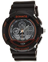 Sonata  Analog-Digital Brown Dial Men's Watch -  7997PP03J