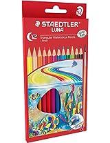 Staedtler Luna School Triangular water colour pencils set of 12 colours