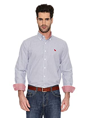 Toro Camisa Mil Rayas (Azul medio)
