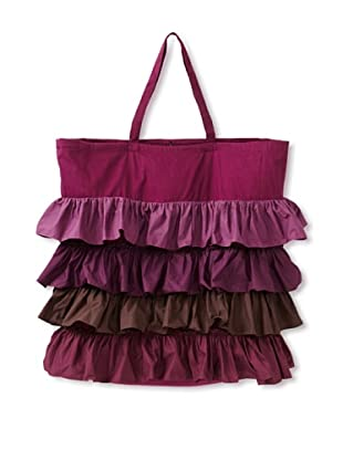 India Rose Berry Pie Laundry Bag, Purple/Brown, 24