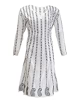 PR Chikans Women's Cotton Kurti (PR587, White, 46)