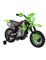 Brunte Battery operated Rideon Lean Motor Bike 14 Green