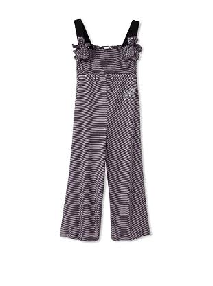 Sonia Rykiel Girl's Striped Jumpsuit (Pink/Black)