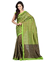 Lookslady Art Silk Saree (5000070085 _Green)
