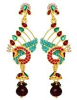 Sharnam Art gold-plated Dangle & Drop Earring For Women (Multi-Colour)