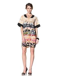Donna Morgan Women's Geometric Sheath Dress (Black Multi)