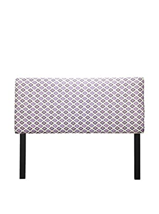 Sole Designs Upholstered Carnival Headboard (White/Purple)