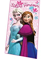Disney Frozen Sisters Forever Fleece Blanket, Pink [Kitchen & Home]