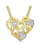 BlueStone Bloom Collection 18k Yellow Gold and Diamond Adrora Pendant